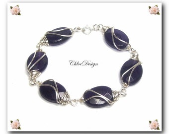 diy PDF and Video Tutorial Wire Wrapping Jewelry Elegance Bracelet,occasion,gemstone,amethyst,silver,gift,healing,Wicca,Reiki