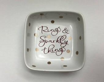 Rings & Sparkly Things Polka Dot Ring Dish