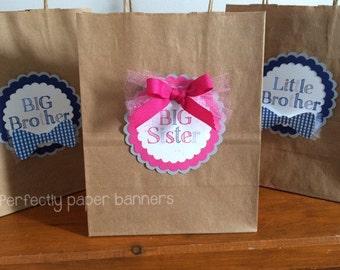 Big Sister & Big Brother gift tags