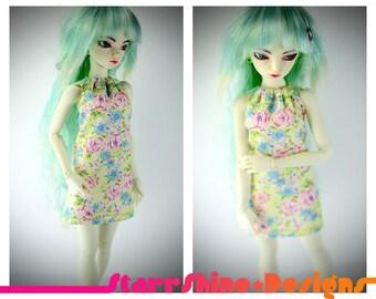 BJD Slim MSD 1/4 Doll Clothing - Halter Top Sundress - Spring Floral - LIMITED