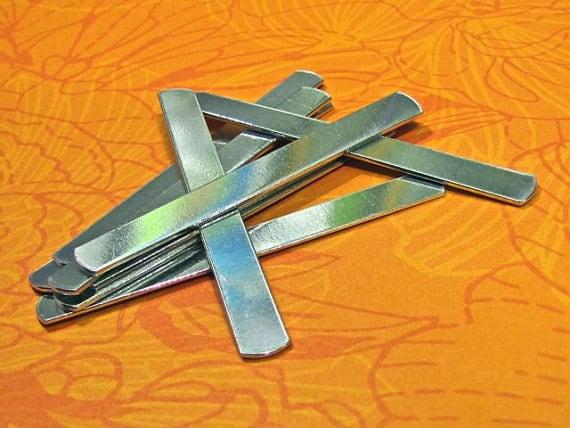 "15 Wrap Kit You CHOOSE 14 Gauge Food Safe Aluminum (10 - Wrap 3"") (3 - XL Wrap 3-1/4"") (2 - 2XL Wrap 3-1/2"") - Total 15 Flat Ring Blanks"