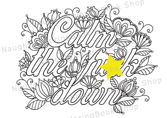 Adult Coloring Book Adult Coloring Pages Bachelorette Party Swear Word Coloring Pages Printable Free