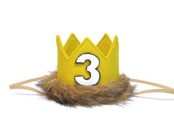 Third Birthday Wild One Third Crown || Where the Wild Things Are Outfit || Safari Birthday Hat || Wild Thing Birthday || Wild One