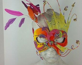 Orange and Yellow Masquerade Mask//Masquerade Mask//Mask/Mask Masquerade//Masquerade Ball Mask//Halloween Mask//Mardi Gras Mask/Cosplay Mask