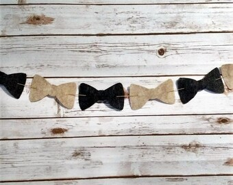 Felt Bow Tie Garland
