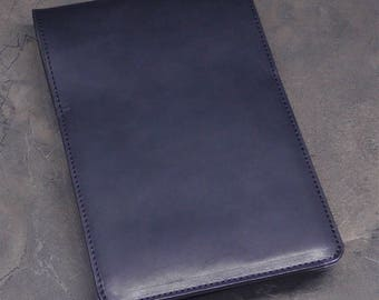 Black Horween Dublin Leather Write NotePads Graph Paper Steno Flip Note Pad Cover