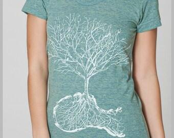 Women's T Shirt  XL - Dust - American Apparel