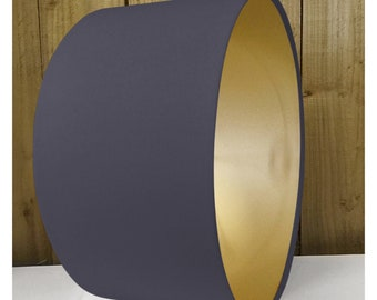 Metallic lamp shade etsy grey metallic gold drum lampshade lightshade 20cm 25cm 30cm 35cm 40cm 45cm 50cm 55cm 60cm aloadofball Gallery