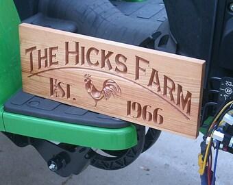 Custom Farm Sign, Fixer Upper Sign, Family Farm Sign, Kitchen Sign, Farm Sign, Ranch Sign, Personalized Sign, Benchmark Signs, Cherry JR