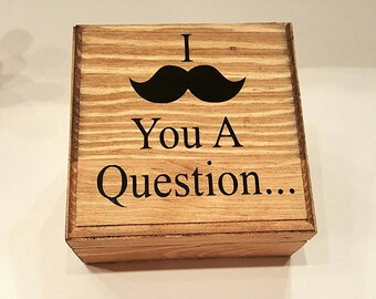 Groomsman Box,Will you be my groomsman box,Will you be my best man box,Groomsman boxes,Best man mustache,I Mustache you a question,Groomsman
