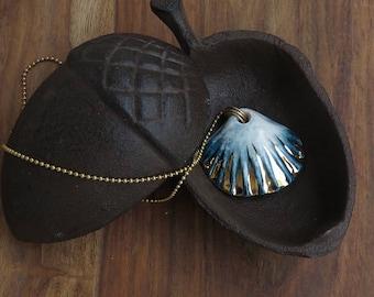 Porcelain Jewelry, Beach Necklace, Mermaid Necklace, Porcelain Necklace, Shell necklaces, Pendant Necklace, Ocean necklace, Nautical Jewelry