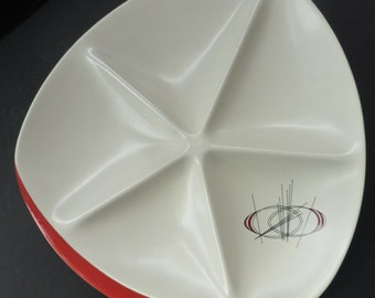 Very Rare 1950s ATOMIC Carlton Ware Orbit Pattern Large Serving Platter - with five compartments