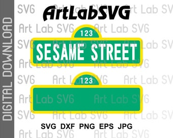 Sesame Street Sign svg, Blank Sign only svg, dxf, eps, png,  cricut, silhouette cameo