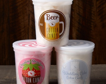 Anniversary Gift Pack: Beer, Chocolate Strawberry, Wedding Cake Cotton Candy