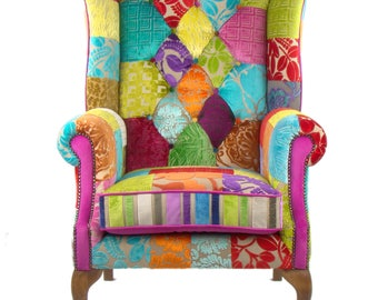Awesome Patchwork Chair In Designers Guild Velvet