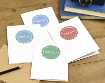 Thank You Cards Pack of 4