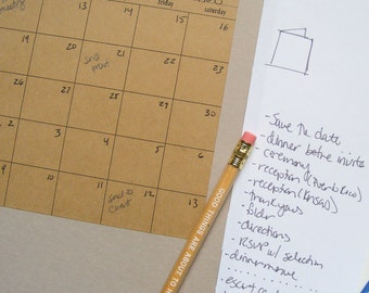 kraft stick anywhere calendars - set of 6