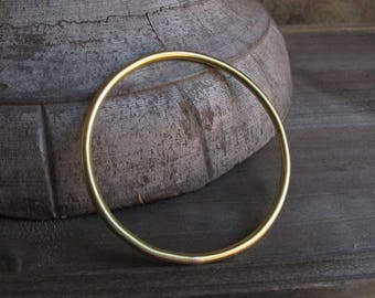 Solid Brass Bangles // 3.5mm Thick // Handmade, Artisan, Hammered