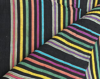 Vintage Hand Woven Guatemalan Textile Handmade Mexican Fabric Panel