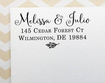 Custom Address Stamp, Personalized Return Address Stamp, Rustic Fall Wedding Stamp, Self Inking Stamp, Eco Rubber Stamp, Personalized Gift