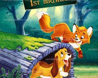 Fox and the Hound Invitation, Fox Birthday Party Invite