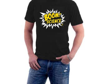 Boom ! Science T-shirt Explosion Astro Physics, Chemistry Lab Big Bang Tee