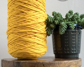 Sunflower Cotton Rope - Super Soft Luxe String Cotton Cord - 5mm - Macrame Rope - Diy Macrame - Rope - Weaving - Macrame
