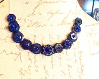 Blueberry Button necklace