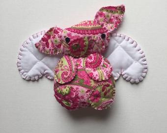 Flying Pig Handmade Plush