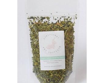 Organic Papaya leaves - Hay Topper treats Pet Rabbits, Guinea Pigs Bunny treats, guinea Pig treats, rabbit treats australia, oraganic treats