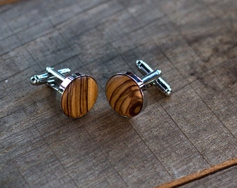 WOODEN CUFFLINKS, Wedding Cufflinks | gift for him|gift for men  Groom Cufflinks | groomsmen cufflinks | groomsmen gifts Spalted OLIVE Wood