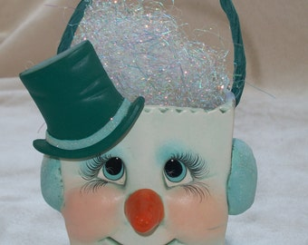 Ceramic Christmas snowman,let it snow snowman, Santa,novelty bags