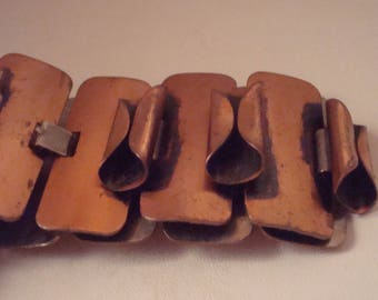 Vintage copper colored bracelet and earrings
