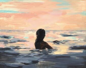 At Sunset . horiztonal / landscape giclee print