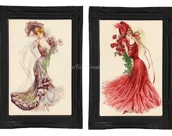 Victorian Women Prints