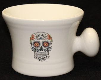 Day of the Dead - Sugar Skull - Dia De Los Muertes- shaving mug