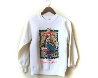 Vintage 1992 Birdlegs bird Englewood Florida souvenir crew sweatshirt
