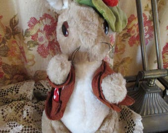Vtg 1980's Peter Rabbit Cousin BENJAMIN BUNNY Plush Stuffed Animal Bunny RABBIT, Beatrix Potter, Eden Toys