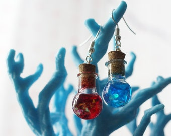 Cute Mana and Health Potion Earrings (Now also in glitter!)