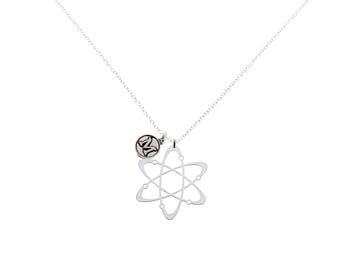 Atom Molecule Necklace, Atom Necklace, Science Necklace, Atom Pendant, Physics Necklace, Science Necklace, Geek Jewelry, Chemistry Gift