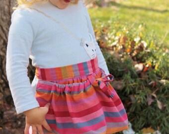 Rainbow apron, Gardening apron, Half apron, Apron for Kids, Child's Apron, Toddler apron, Craft apron, Egg gathering apron