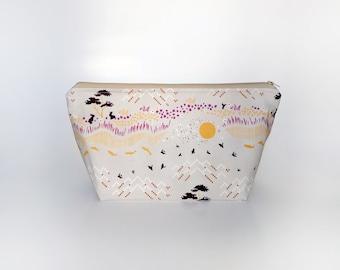 Medium Knitting Project Bag, Bunnies Project Bag, Crafter Project Bag, Sock Knitting Bag, Minimal Project Bag