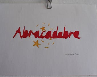 Hand Screen Printed 'Abracadabra' Print - Very Limited Edition