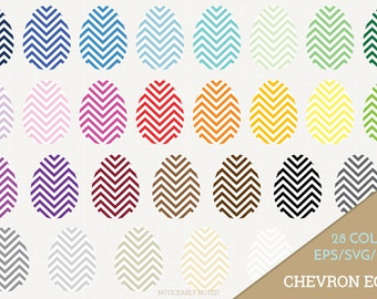 Easter Eggs Vector, Chevron Eggs Clipart, Patterned Egg SVG, Spring Printable, Chevron Easter Egg Print and Cut (Design 11620)