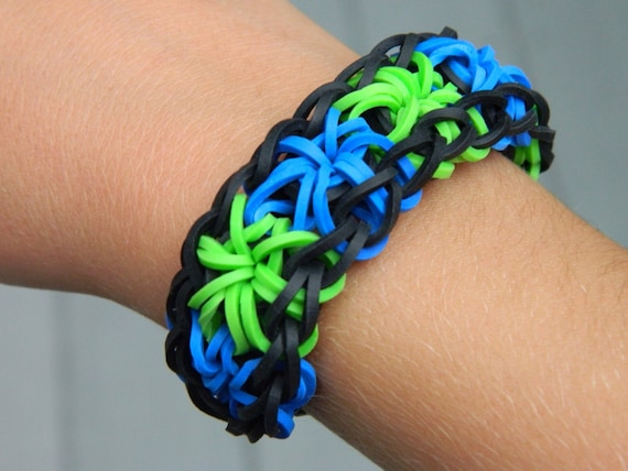 Items Similar To Rainbow Loom Starburst Rubber Band