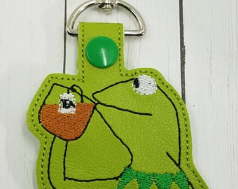 None of My Business Frog Key Chain/ Bag Tag