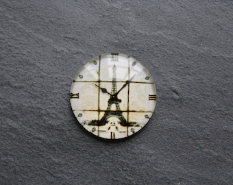 "Cabochon 25 mm (retro Paris) glass ""Clock"""