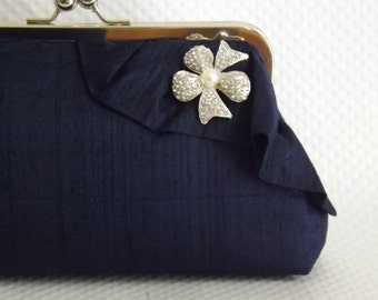 Navy Bridal Clutch - Wedding Clutch - Navy Bridal Clutch - Wedding Purse - Bridesmaid Clutch - Bridesmaid Gift -Wedding Gift- Giselle Clutch