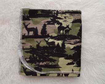 Camo Flannel Baby Blanket
