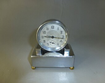 Antique/Vintage French Musical Alarm Clock Mechanical Wind Up With Music Box Alarm (Watch The Video)